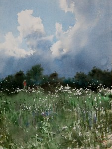 """Before rain"" watercolor on paper, 41 x 31, 2011"