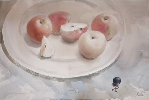 """Grape"" watercolor on paper, 38 x 56, 2011"