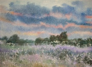 """May. The late evening"" watercolor on paper, 56 x 76. 2011-small"