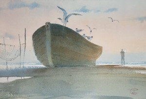 """The Boat"" watercolor on paper, 38 x 56, 2011"