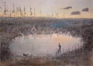 """The lakelet"" watercolor on paper, 50 x 70. 2011"