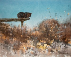 """The first frosts"" watercolor on paper, 45 x 56, 2011"