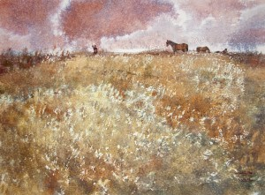 """Steppe grass"" watercolor on paper, 56 x 76, 2011"