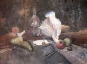 """Random objects"" watercolor on paper, 54 x 73, 2012"