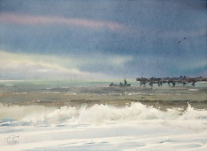 """""""Towards evening"""" watercolor on paper, 41 x 56, 2012"""