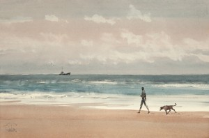"""Along the seashore"" watercolor on paper, 38 x 57, 2012"