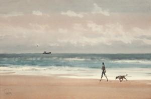 """Along the seashore"" watercolor on paper, 38 x 57, 2012"