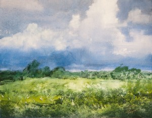 """Thunderstorm went past"" watercolor on paper, 35 x 45, 2012"