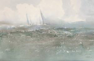 """""""Waves"""" watercolor on paper, 38 x 58, 2012"""