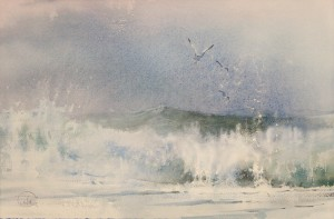 """The wet wind"" watercolor on paper, 38 x 58, 2012"