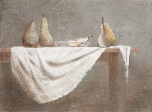 """About pears pathetically"" watercolor on paper, 56 x 76, 2013"