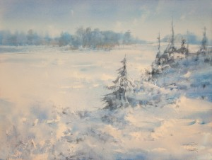 """Frost at the Theophany day"" watercolor on paper, 57 x 76, 2013"