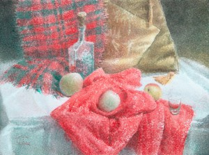 """""""The cold day's joys"""" watercolor on paper, 56 x 76, 2014"""