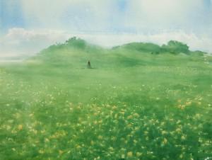"""Dandelions"" watercolor on paper, 56 x 76, 2014 © Sergey Temerev"