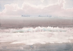 """""""The pearly foam"""" watercolor on paper, 35 x 49, 2012"""