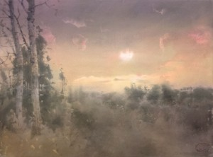 """November Sun"" watercolor on paper, 56 x 76, 2020"